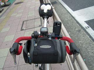自転車に固定した状態