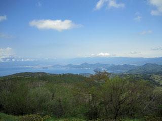 だるま山高原 から駿河湾