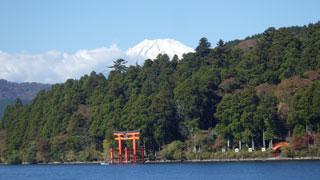 芦ノ湖-富士山