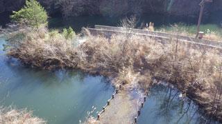 水没した橋