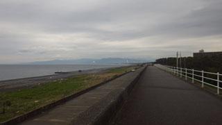 防波堤の上
